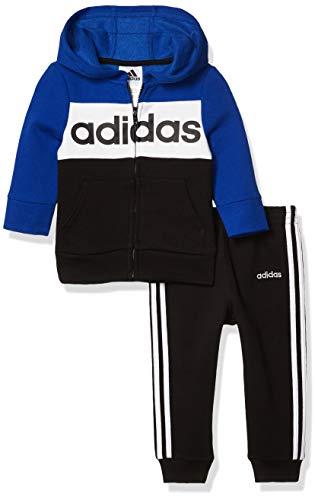 adidas Baby Boys Li'l Sport Hoodie and Sweatpants Clothing Set, Team Royal Blue, 12 Months