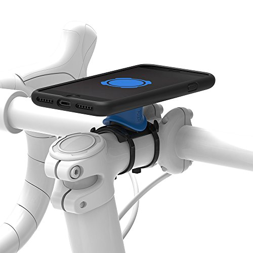 Quadlock Bike Kit Soporte de Bicicleta iPhone 7, Negro/Azul, M