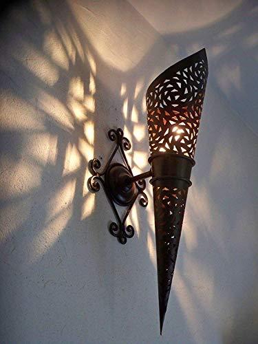 Wandleuchte Wandfackel Schmiedeeisen Marokkanisch 45 cm