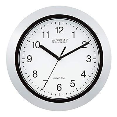 """La Crosse Technology Atomic Analog Wall Clock, 10"""", Silver"""