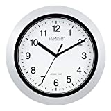 La Crosse Technology Atomic Analog Wall Clock, 10', Silver