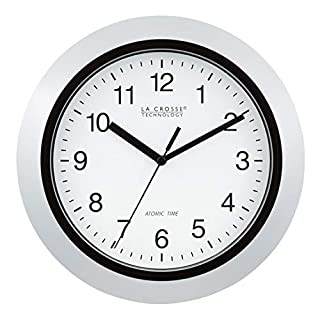 La Crosse Technology WT-3102S 10-Inch Atomic Analog Wall Clock, Silver (B000AMCAUG) | Amazon price tracker / tracking, Amazon price history charts, Amazon price watches, Amazon price drop alerts