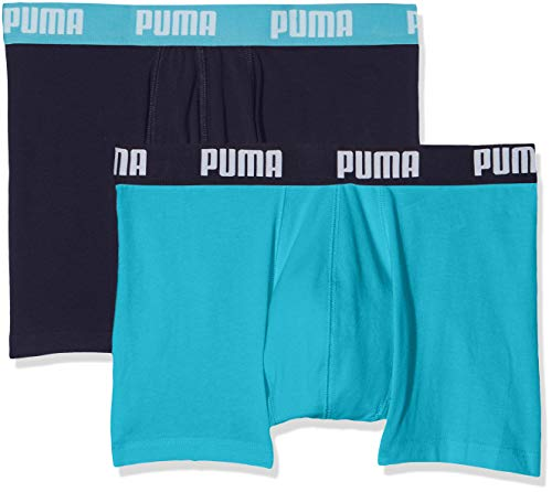 Puma Herren  Basic Boxer , 2er Pack, Bleu (Aqua/Blue 796), Large
