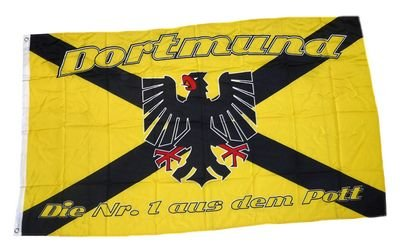 Fahne / Flagge Dortmund Kreuz NEU 90 x 150 cm Fahnen