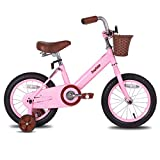 JOYSTAR 12 Inch Kids Bike for 2 3 4 Years Old Girls, Kids Bicycle with Front Basket & Training Wheels for 2-4 Years Child, Pink