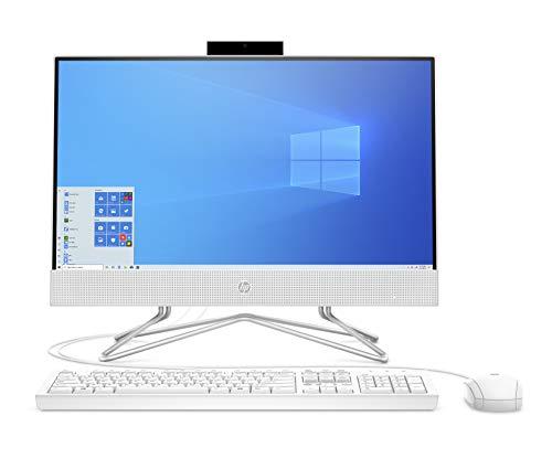 """HP - PC 24-df0102nl All-In-One, Intel Core i3-1005G1, RAM 8 GB, SSD 256 GB, Grafica UHD Intel, Windows 10 Home, Schermo 23.8"""" FHD IPS, Casse Audio, USB, HDMI, RJ-45, Lettore Micro SD, Webcam, Bianco"""
