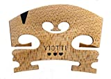 Viotti Violin Bridge 4/4: Finer Grade Solid Maple Violin Bridge, Pre-Cut & Pre-Fitted to Fit Most 4/4 Violins, Crafted by Highly Skilled Experts for Sharper Sound, Volume, Beauty & Clarity