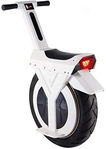 mjj 17-Zoll-elektrisches Unicycle Intelligent Balance Roller Elektrische Unicycle-Scooter 500W Motorrad-Weiß_30km