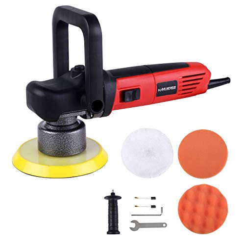 MANUSAGE 6-Inch Dual Action Car Polisher,7Amp Variable Speed Random Orbital Polisher with Two Detachable Handles,Ideal for Car Sanding,Polishing,Waxing,Sealing Glaze