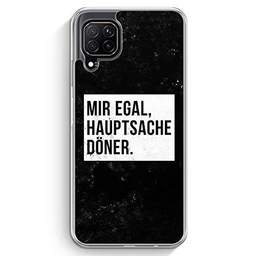 Mir Egal Hauptsache Döner - Hülle für Huawei P40 lite - Motiv Design Cool Witzig Lustig Spruch Zitat Grunge - Cover Hardcase Handyhülle Schutzhülle Case Schale