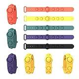 1 Pieza Fidget Fidget Simple Dimple Toy Stress Alivio Juguetes Mano para Niños Adultos Fidget Simple Dimple Toy, Pulsera Simple del hoyuelo (Color al Azar)