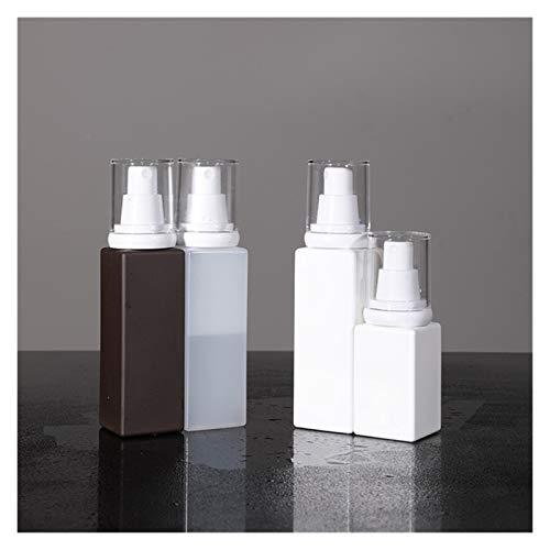 QHKS 2pcs / lot Bouteilles vides Spray 50ML 100ML plastique Atomiseur de parfum Voyage récipient cosmétique bouteille de liquide portable (Color : 50ML Dark Brown, Specifications : 2 piece)