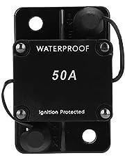 Stroomonderbreker, Auto Reset Zekeringhouder, Waterdichte Automatische Schakelaar DC12-24V HT-608, Met Overstroombeveiliging, Overspanningsbeveiliging, Aardlekbeveiliging(50A)