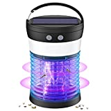 [3 in 1] Bug Zapper & Insect Fly Traps & LED Camping Lantern, IP44 Waterproof, USB/Solar-Rechargeable, 9-H Battery Life, Mosquito Zappers, Mosquito Killer for Home,Kitchen,Patio, Backyard,Camping