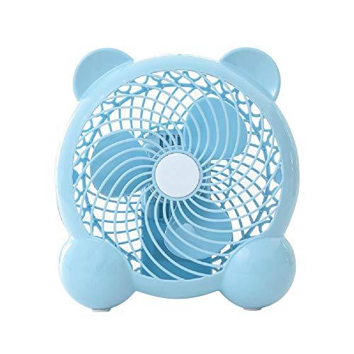 Ventilador De Escritorio Usb Silencioso Usb Recargable Mini Ventilador Ventilador Personal De Poco Ruido Para El Hogar Dormitorio Oficina JardíN Al Aire Libre,Blue-Lovely