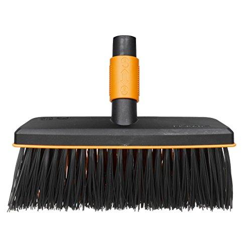 Fiskars bladbezem, gereedschapskop, klein Multifunctionele bezem Breite: 26 cm zwart/oranje