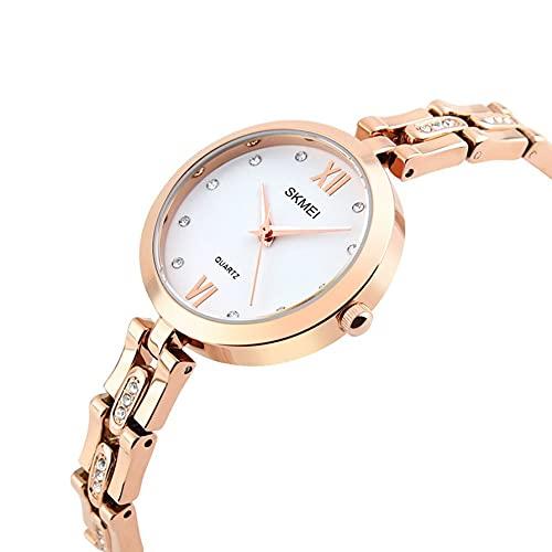 Reloj de moda para mujer, Reloj de pulsera de diamante, Reloj de cuarzo para mujer, Aleación de zinc exquisito reloj 1225
