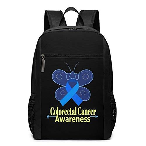 ZYWL Laptop-Rucksack zur Sensibilisierung für Darmkrebs, Reiserucksack, Büchertasche, Geschäftstasche