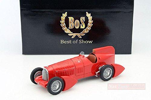 BOS MODEL Compatible con Alfa Romeo Typo B P3 AERODINAMICA Red 1:18 DIECAST BOS066