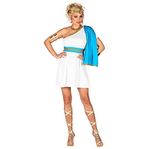 WIDMANN 02649 Disfraz de diosa griega, para mujer, color bla