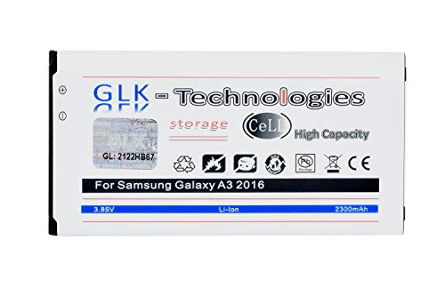 High Power Ersatzakku kompatibel mit Samsung Galaxy A3 2016 (A310F) BA310ABE   Original GLK-Technologies Battery   accu   2300 mAh Akku   NEU