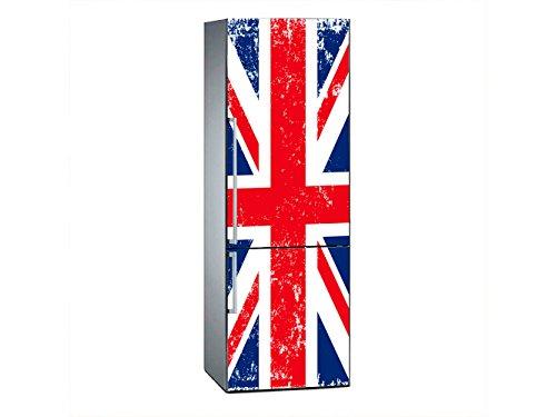 Vinilo Frigorífico Bandera Reino Unido 185x60cm | Varias Medidas | Pegatinas de Nevera Económicas y Elegantes | Vinilo Nevera