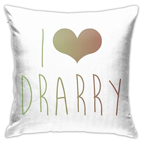 HOJJP I Love Drarry Home Decorative Throw Pillow Covers for Sofa Couch Cushion Pillow Cases 18x18 Inch
