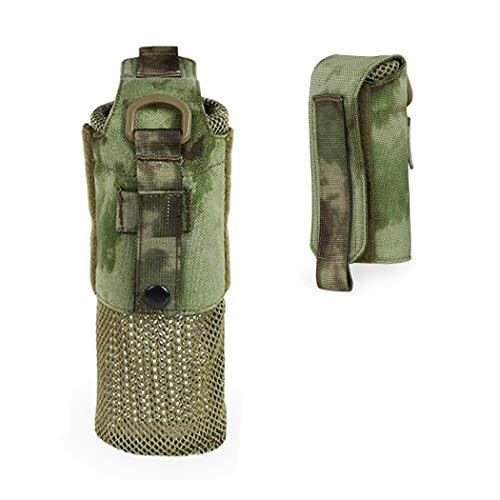 Molle Waterfles zak, opvouwbaarTactische militaire trekkoord Open Top Water Flessenhouder Mesh Water Fleszak Carrier Attachment