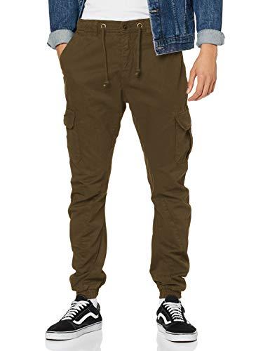 Urban Classics Herren Hose Cargo Jogging Pants, Grün (Olive), L