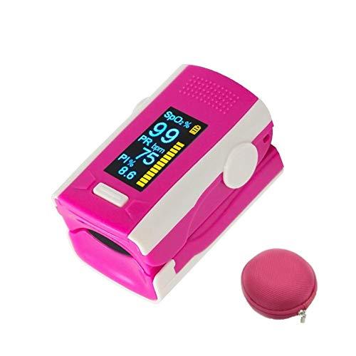 DaTun648 Pulsoximeter, Blut-Sauerstoff-Monitor-OLED-Oxymeter Finger-Pulsoximeter Fingertip Puls-Monitor-Pulse (Color : Rose Red)