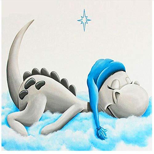 Volledige Ronde Boor Cartoon Draak Baby Dier Tekenen Borduurwerk 5D Souvenir Gift Diamant Schilderen Kits Mozaïek Strass Foto Thuis Muurdecoratie 30x30cm