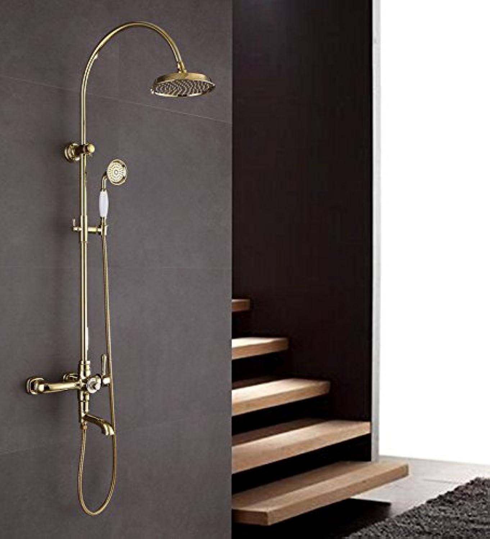 ZHFC-eine konstante temperatur duschen Wasserhahn Europa high - end - reines Kupfer groe Dusche Set mit Heben Verstellbare DREI Funktion Dusche Bad - System,b