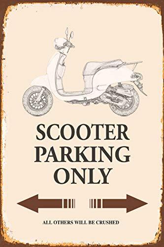 FS Scooter Rollo Mofa Moped Parking only Blechschild Schild gewölbt Metal Sign 20 x 30 cm