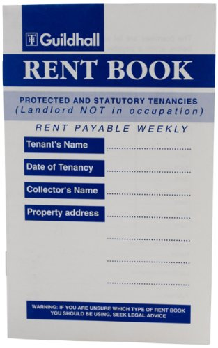Guildhall T41 - Libro del arrendador (10 unidades, 8 páginas, entradas para 136 semanas, 99 x 162 mm), color azul