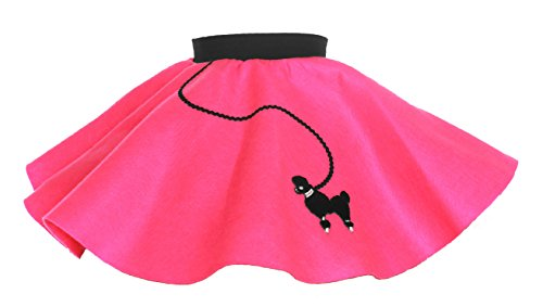 Hip Hop 50s Shop Baby and Toddler Poodle Skirt (Hot Pink, Toddler)