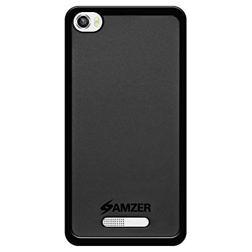 Amzer Pudding Soft Gel TPU Fit Case Cover Skin for Lava Iris X8, Black