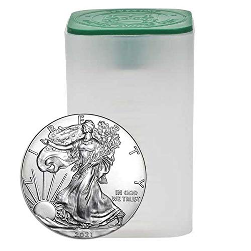 2021 Mintroll of 20-1 oz American Silver Eagle .999 Fine Silver Uncirculated