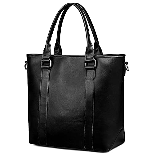 S-ZONE Newshows 14 Inch PU Leather Handbag Tote Vegan Shoulder Bag Large...