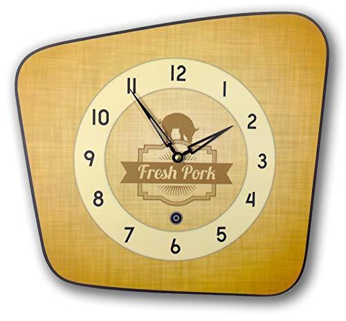 Horloge murale style vintage jaune années 50