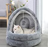 Indoor Cat Cave Igloo <span class='highlight'>Bed</span> <span class='highlight'>Soft</span> <span class='highlight'>Pet</span> Cat <span class='highlight'>Bed</span> House Warm Fleece Cat Puppy Sleeping <span class='highlight'>Bed</span> Deep Sleeping Nest Thermal Cozy Calming <span class='highlight'>Bed</span> with Anti Slip Base <span class='highlight'>for</span> Cat Kitty Puppy <span class='highlight'>Small</span> <span class='highlight'>Medium</span> <span class='highlight'>Dogs</span>