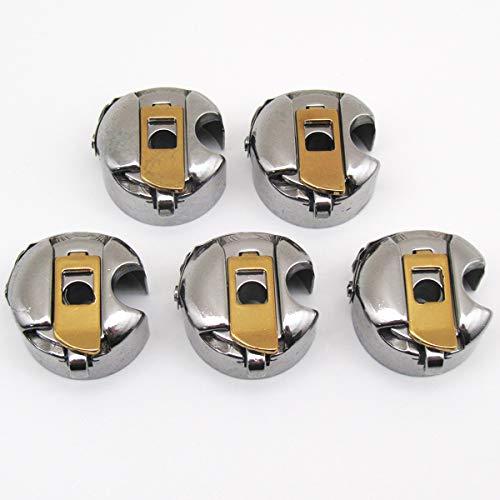 CKPSMS Brand -5PCS #BC-DB1-NBL Titanium Industrial Sewing Machine Titanium Bobbin Cases Compatible with JUKI CONSEW Singer Brother
