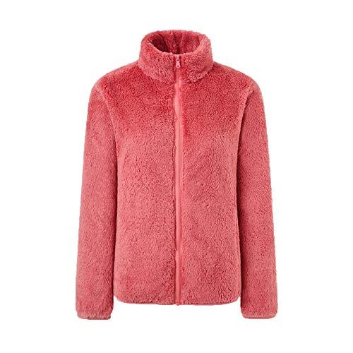 LaiYuTing Coral Fleece Jacke Damen Polar Fleece Herbst Und Winter Verdicken Warm Outdoor Polar Fleece Jacke Jacke Liner