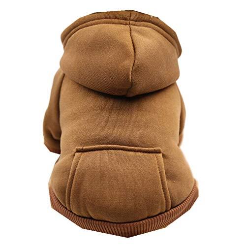 Xmiral Felpa con Cappuccio in Poliestere, Vestiti Tascabili per Cani, Abbigliamento per Animali Domestici (caffè, XXL)