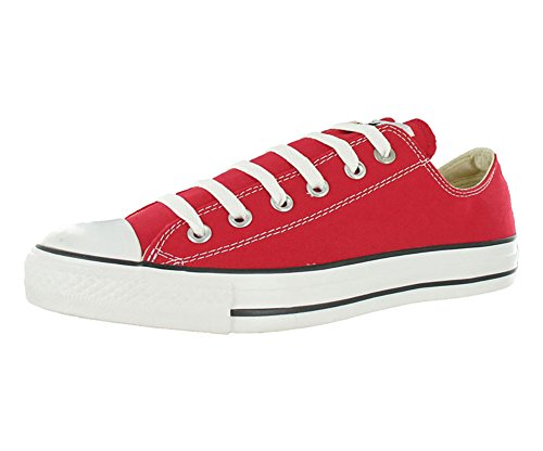 Converse Unisex Chuck Taylor All Star Low Top Sneakers Red, US Men's 8.5 / Women's 10.5