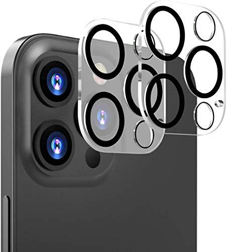 iPhone12 Pro カメラフィルム『2枚入り』日本旭硝子製 iPhone12 Pro レンズ保護フィルム 3D全面保護 硬度9H 透過率99.9% 自動吸着 遮光リング付き 露出過度を防ぐ iPhone12 Pro 対応(6.1 インチ)