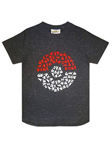 Fashion UK Pokemon Pika Pokeball Boy's T-Shirt (5-6 Years)