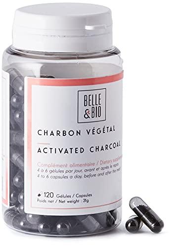 Belle&Bio Charbon Végétal Activé - 200 mg/gélule - Digestion - Fabriqué en France