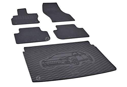 Passgenaue Kofferraumwanne und Gummifußmatten geeignet für Audi Q3 ab 2019 + Autoschoner MONTEUR