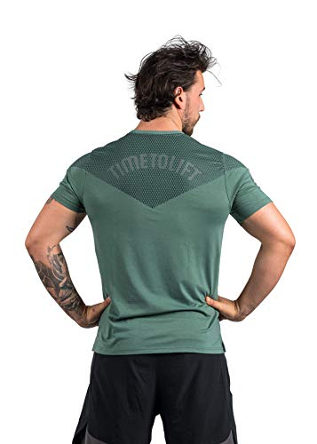Lifters Wear Fitness T-Shirt Herren - Funktionelles Sportshirt - atmungsaktives Trainingsshirt für Dein Workout - Crossfit, Powerlifting, Weightlifting, Bodybuilding (Olive, S)