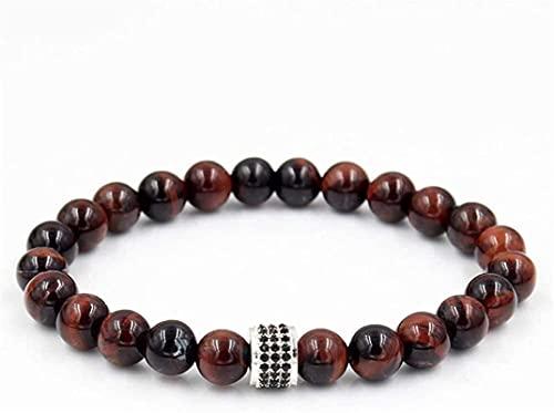 Pulsera de la riqueza Feng Shui Pulsera de piedra, mujer, 7 chakra 8mm, perlas de ágata rojas naturales, brazalete elástico, rosario, rosario, joyería, rogue, yoga, equilibrio, energía, regalo de difu